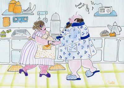 Pepe y Lola Bailando un Twist